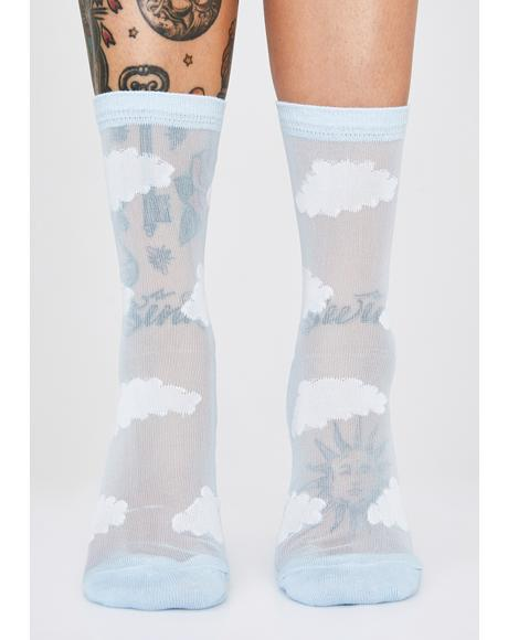 Sheer Cloud Socks