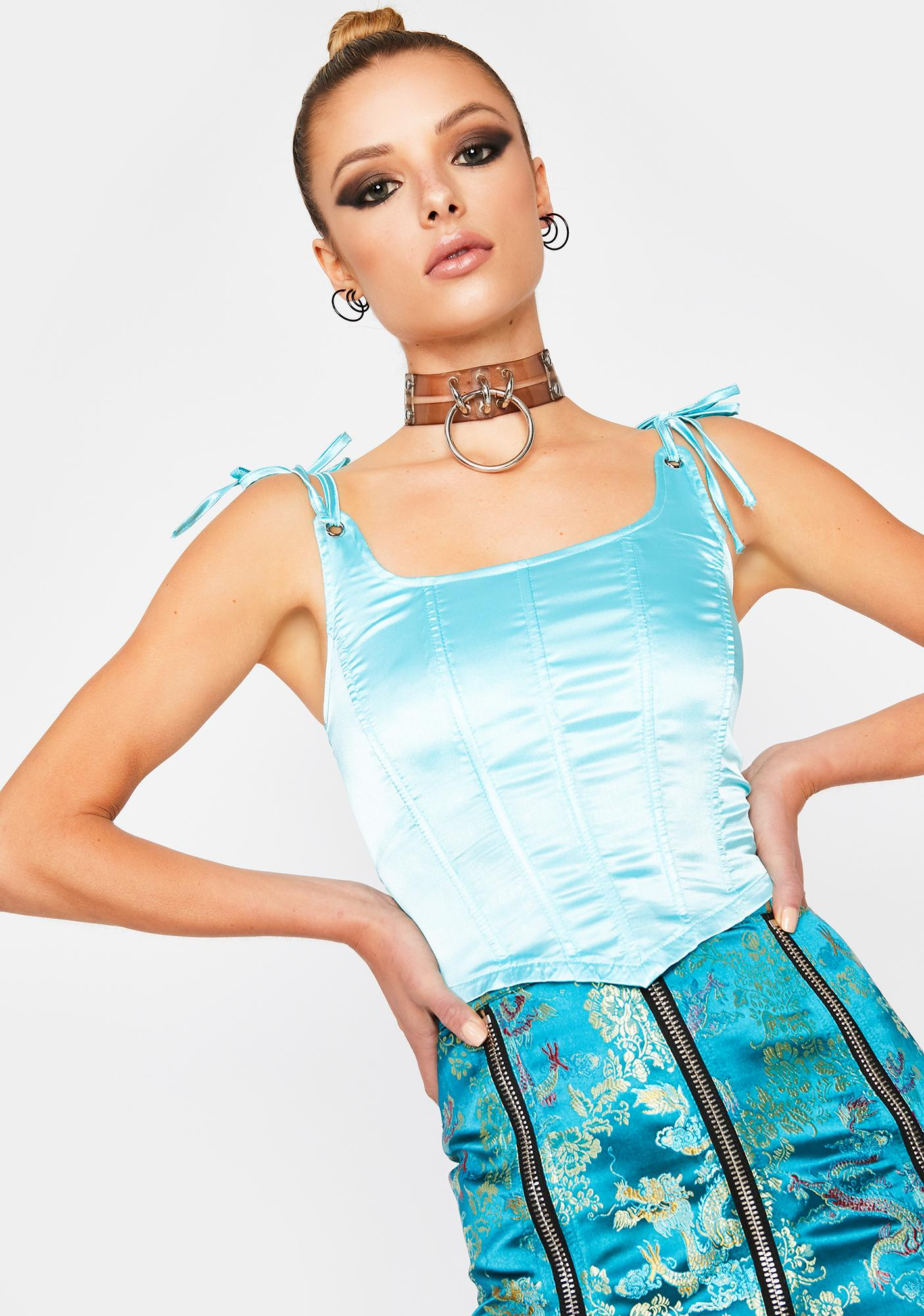 Aqua Best On Earth Satin Corset
