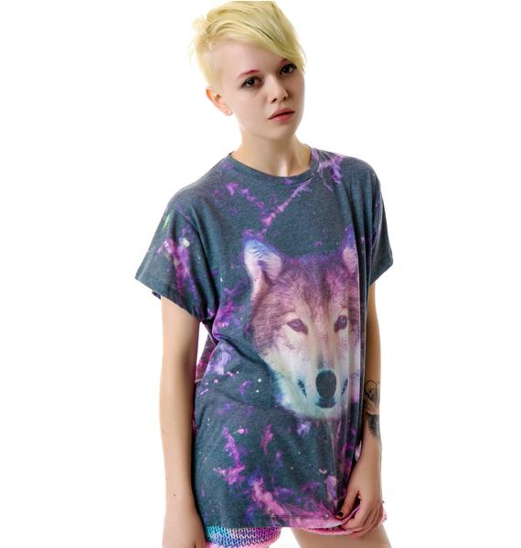 Wildfox Couture Night Wolf Oversize T