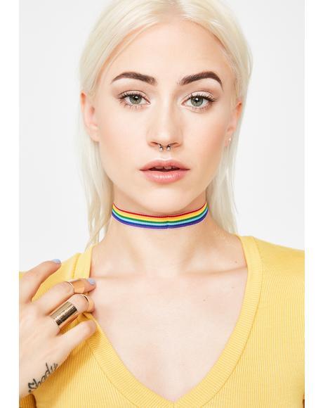 Mind Trip Rainbow Choker