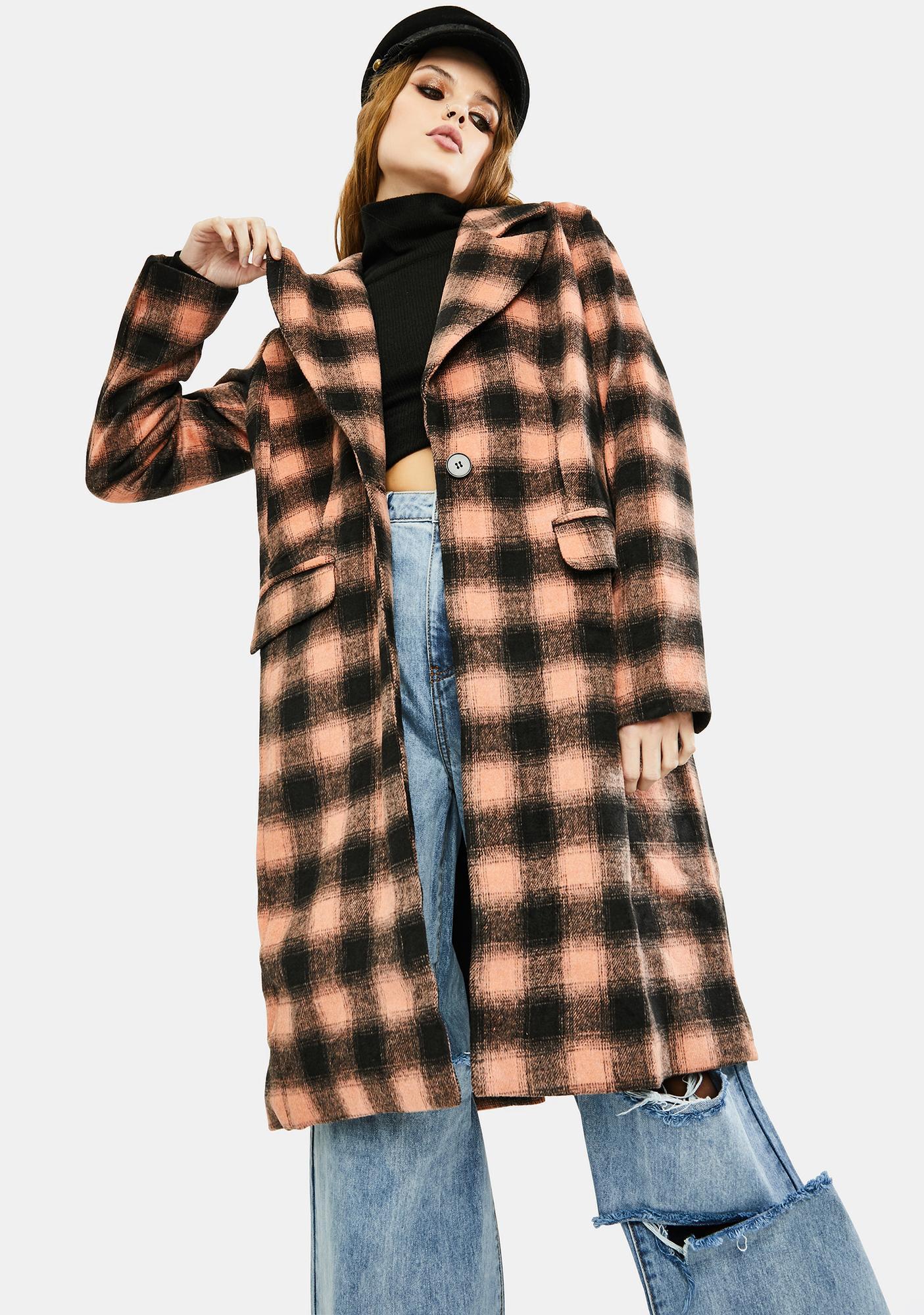 VIGOSS Belle Plaid Coat