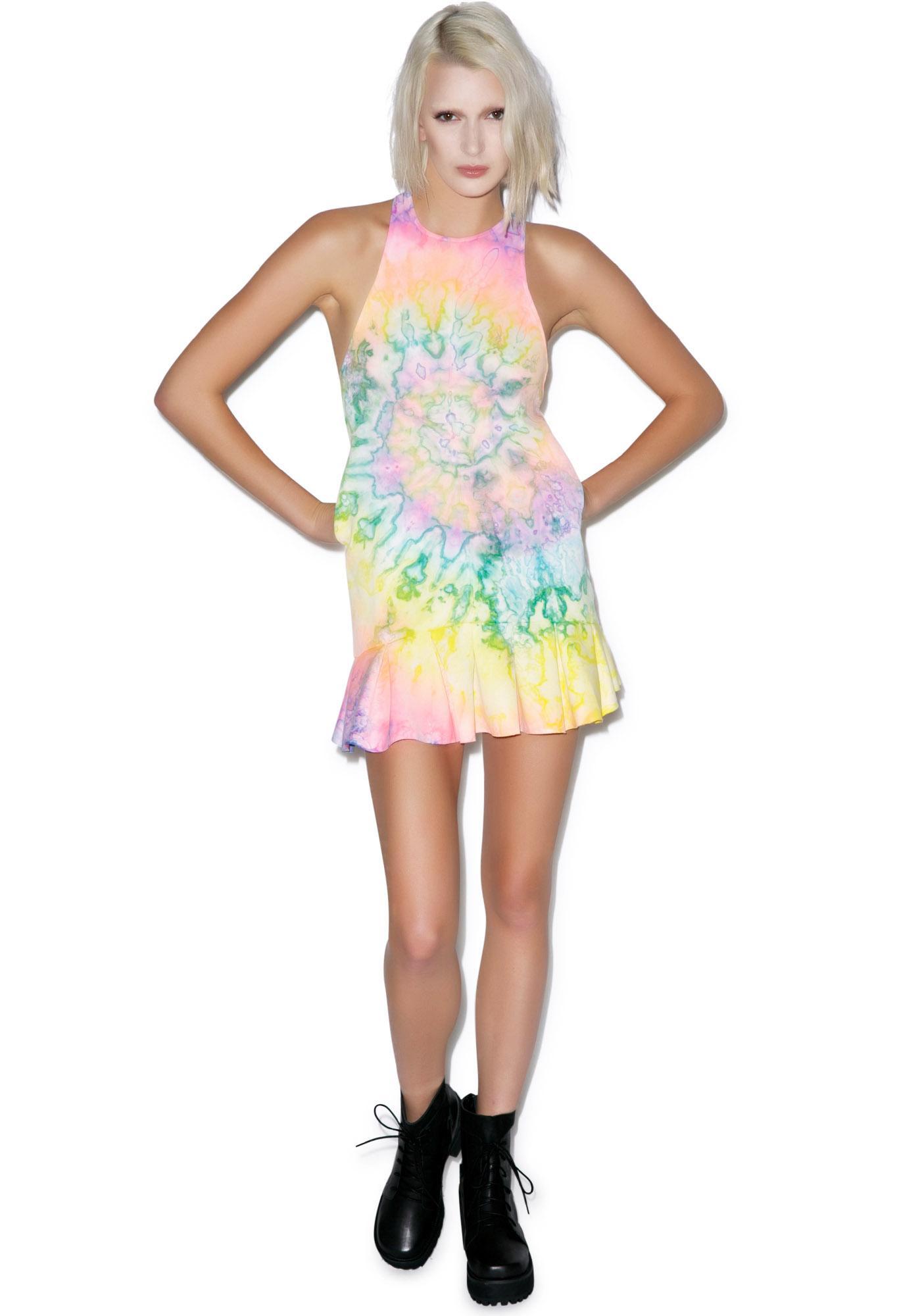 UNIF Tie Dye Bloom Dress