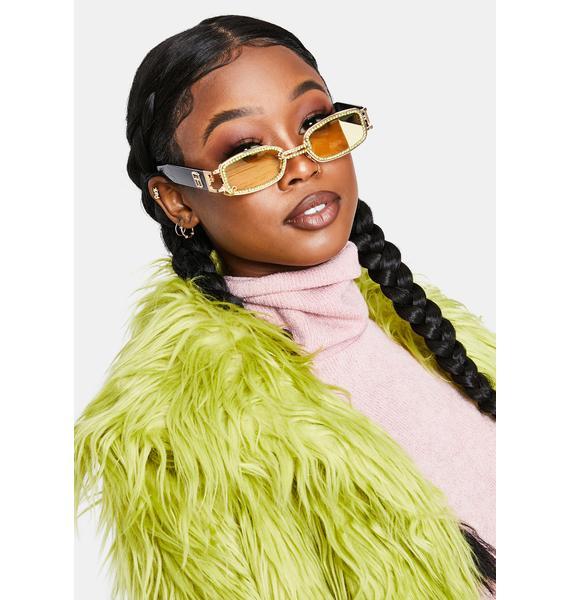 Sunny Lose Ur Mind Rhinestone Sunglasses