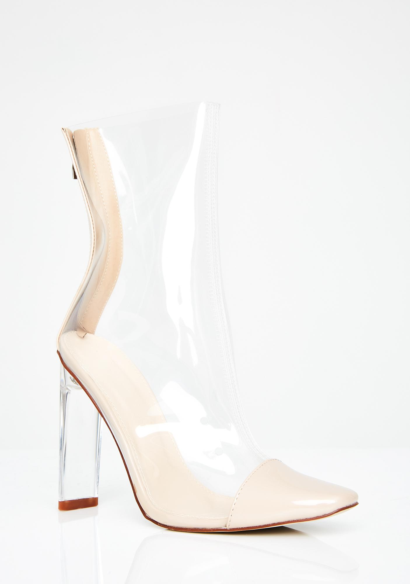 Clear Vision Cap Toe Booties