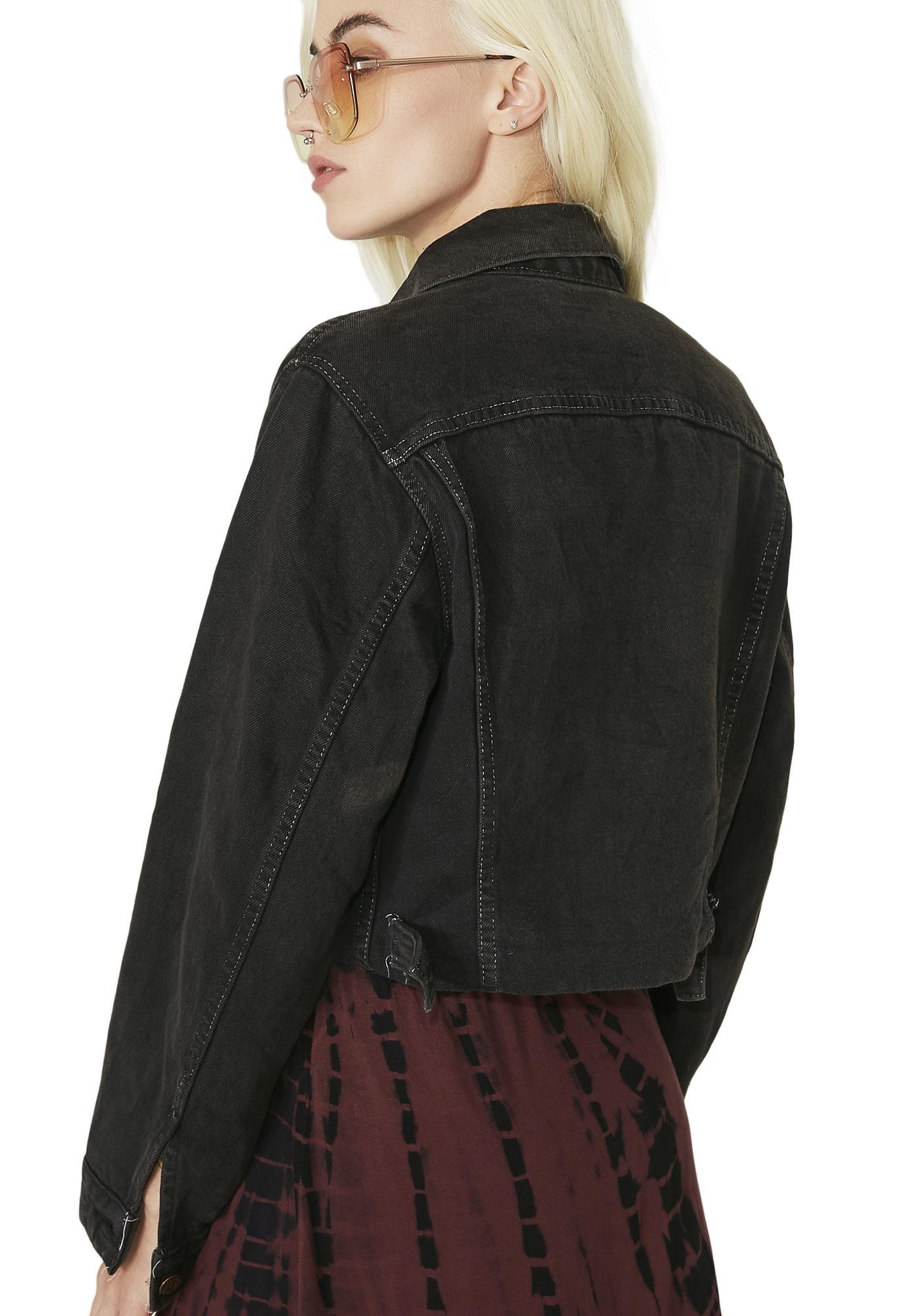 Vintage Star Stud Denim Jacket