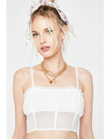 Heaven's Kiss Sheer Crop Tank