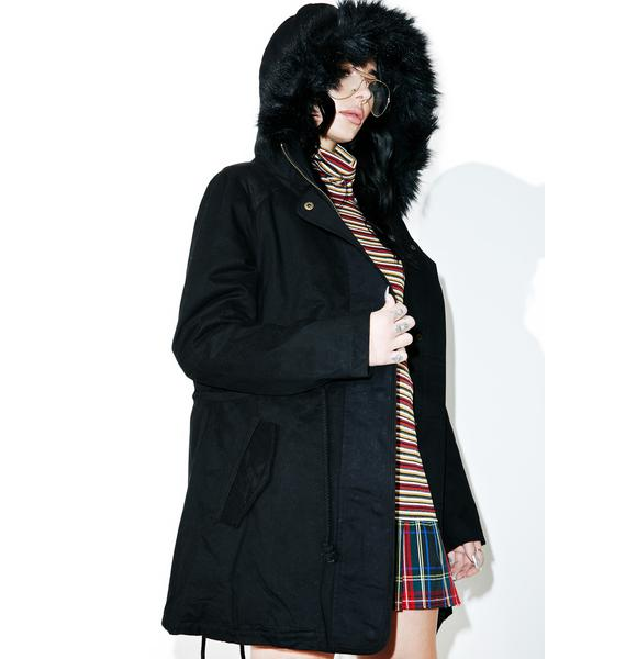 Pitch Black Parka