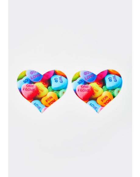 Valentines Candy Heart Pasties