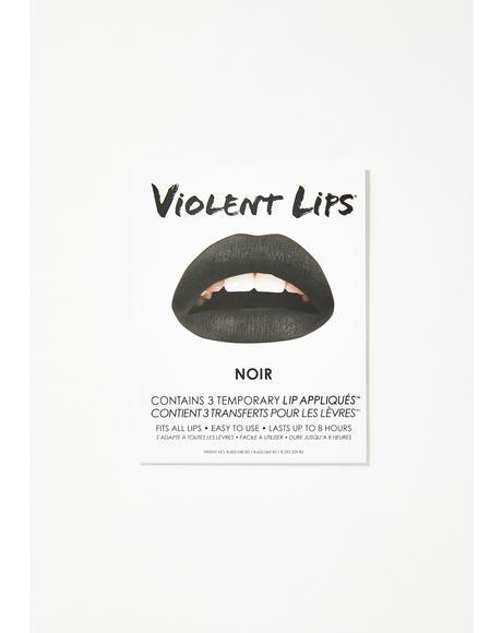 Noir Lip Applique