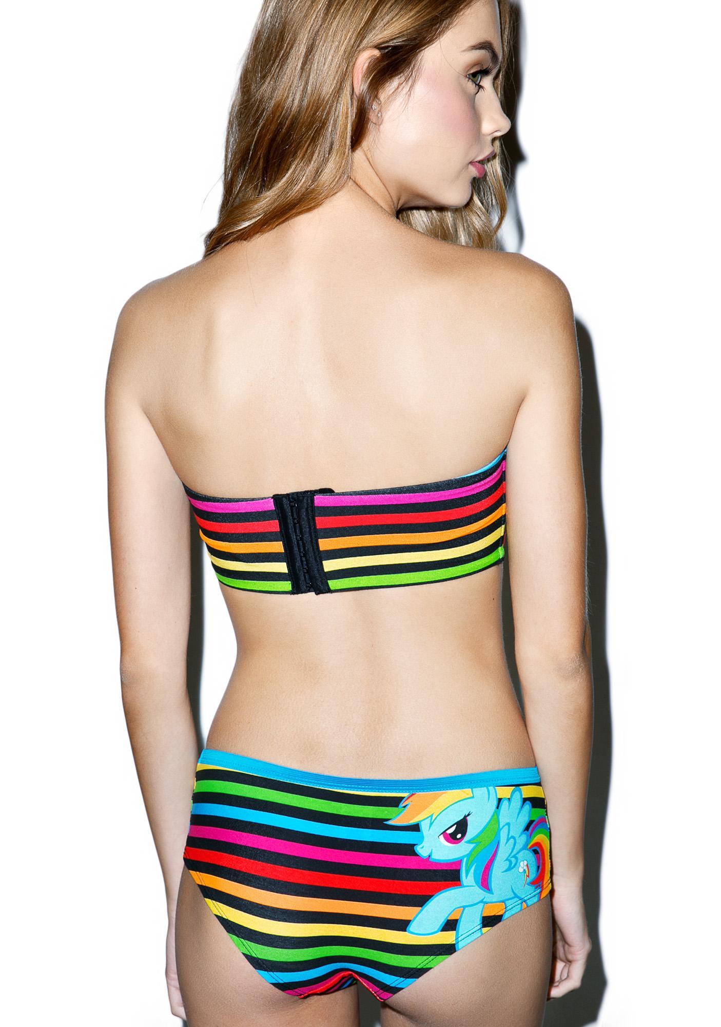 Undergirl Rainbow Dash Bandeau N Panty Set