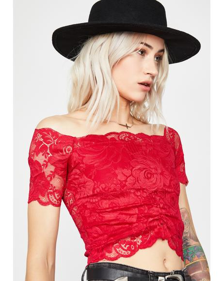 Hot Lovesick Loner Lace Top