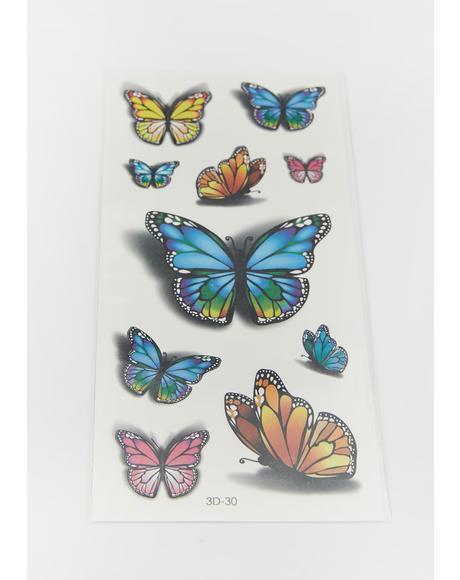 Magic Impressions Butterfly Tattoos