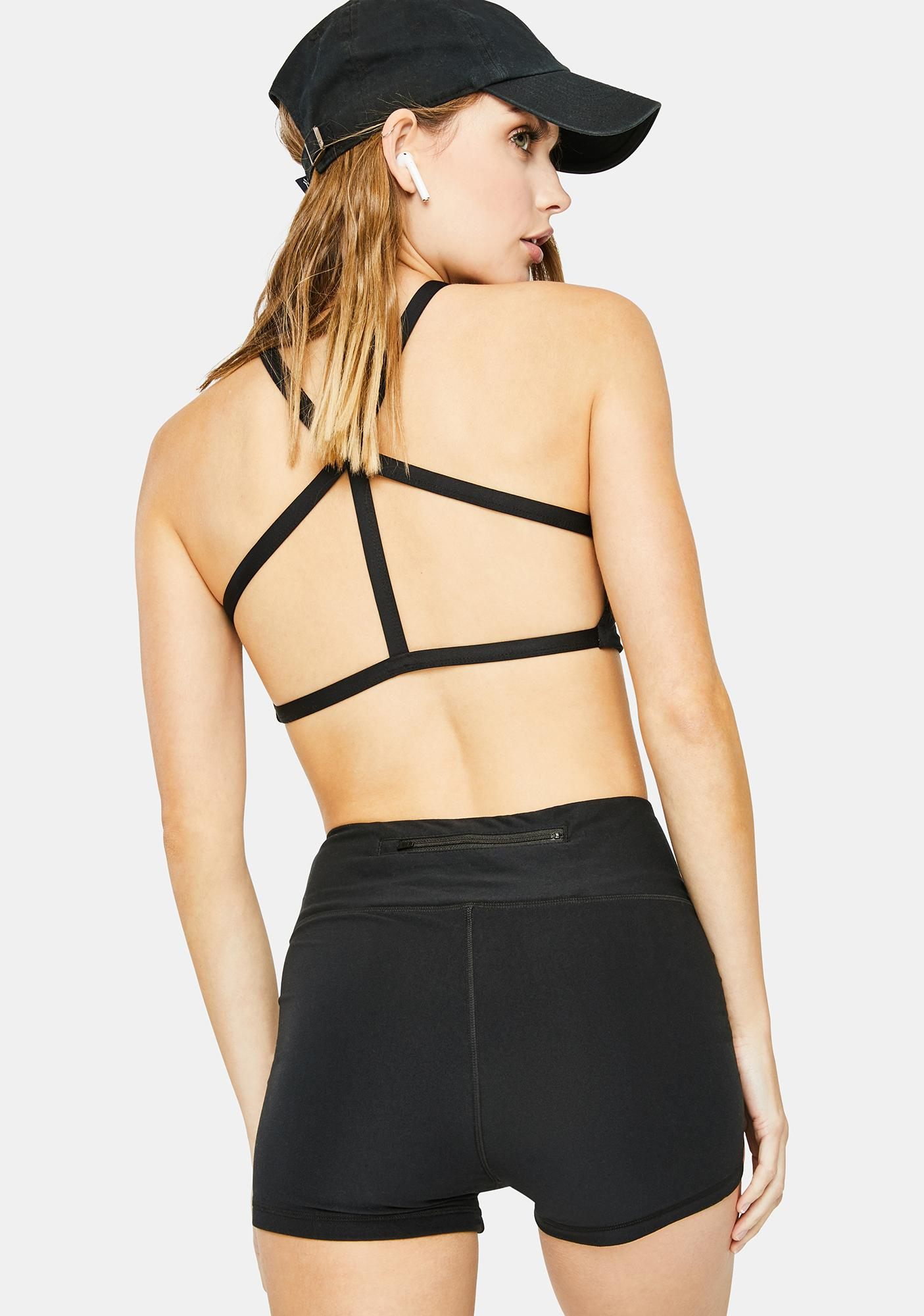 Wolven Onyx High Waisted Shorts