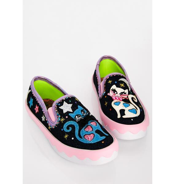 Irregular Choice Pretty Kitty Slip On Sneakers