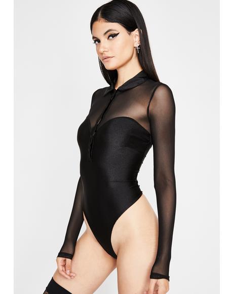Dark Electrik Vixen Polo Bodysuit