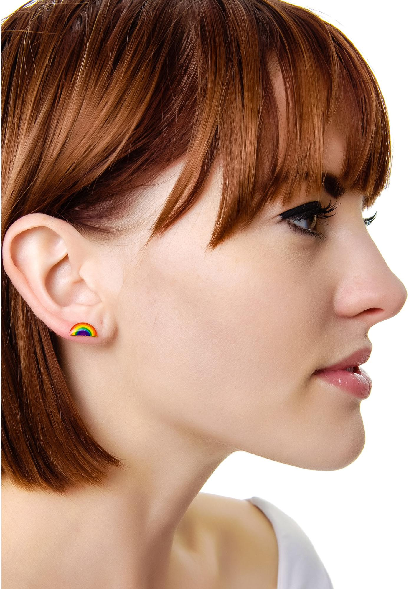Rainbow Bright Ear Stud