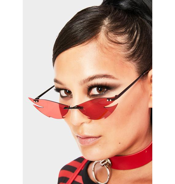 Scarlet Cut Deep Frameless Sunglasses
