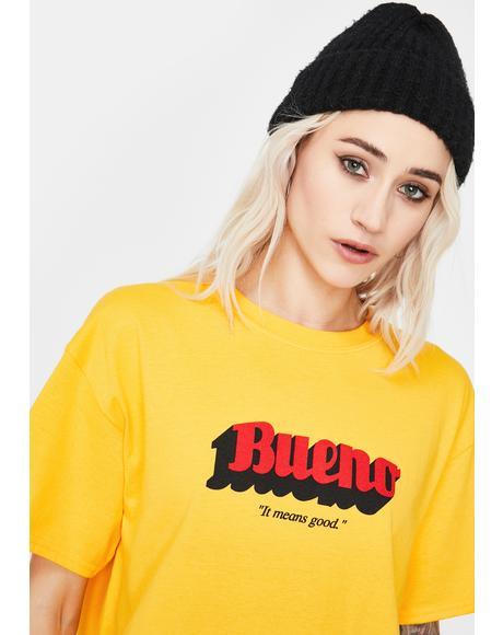 Yellow Classic Bueno Logo Tee