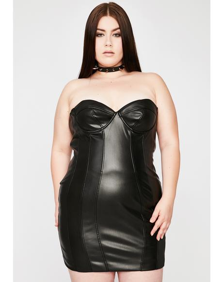 Coal Better Buy Me Somethin' Bodycon Dress