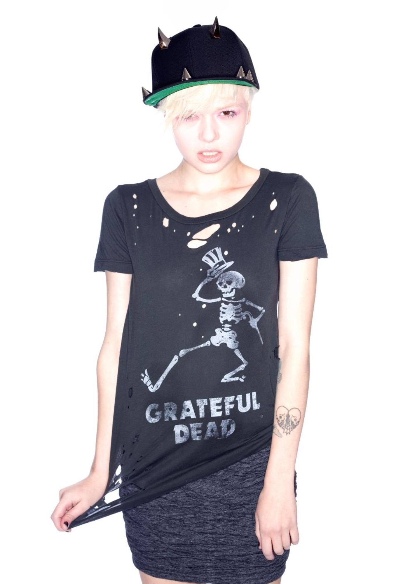 Chaser Grateful Dead Dancing Skeleton Tee