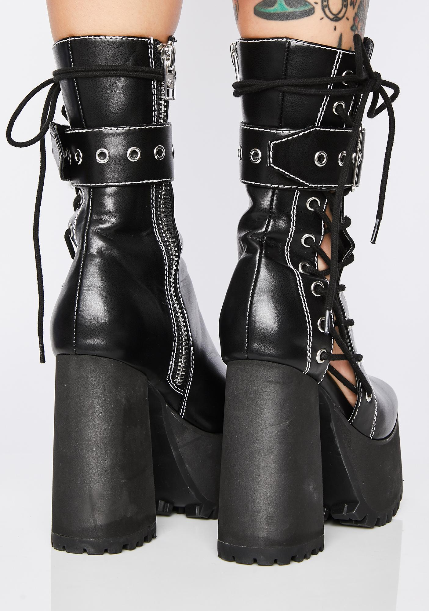 Current Mood Born Killer Platform Boots