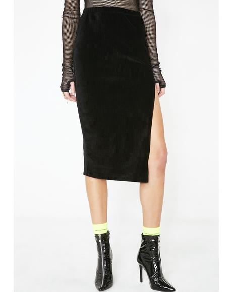 Midi Cheri Split Skirt