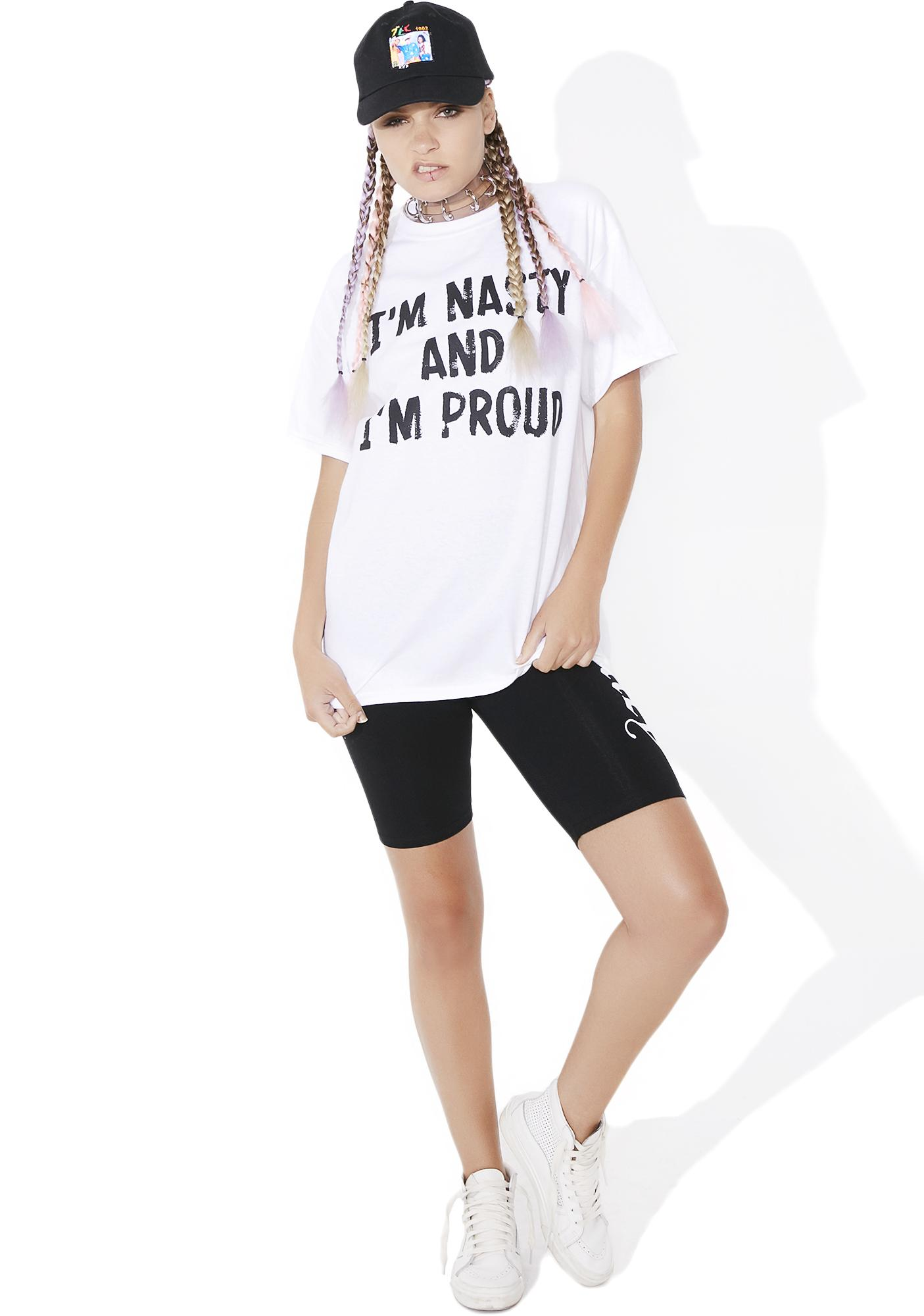 Cross Colours I'm Nasty And I'm Proud Tee