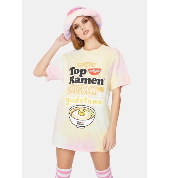 Gudetama x Top Ramen Top Ramen Chicken Tie Dye Tee