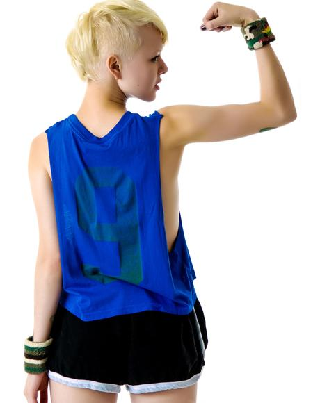 Jogging Muscle Cut Off Tank