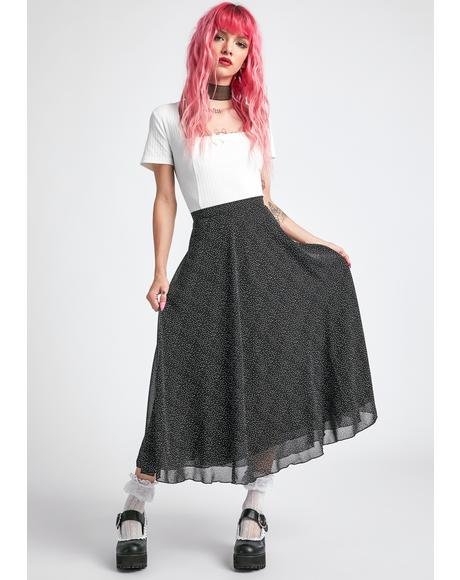 Static Buzz Midi Skirt