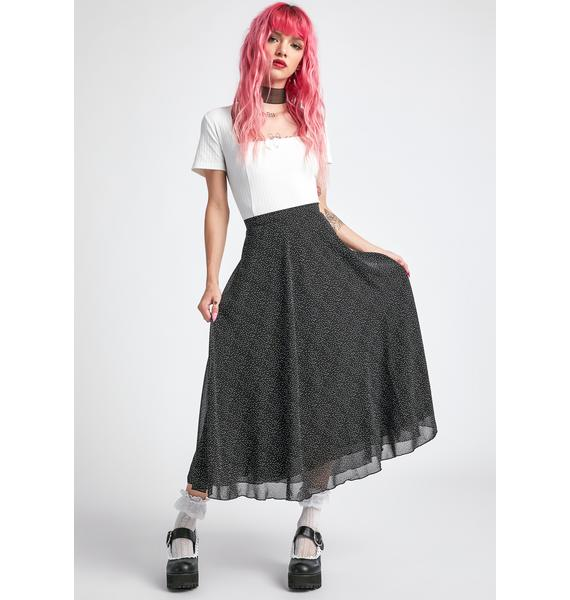 dELiA*s by Dolls Kill Static Buzz Midi Skirt