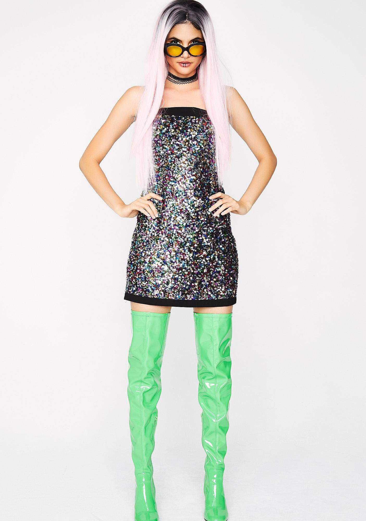 Get Down Sequin Dress