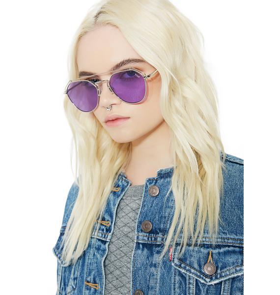 YHF Lilac Stephanie Transparent Sunglasses