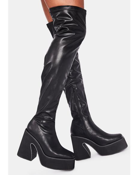 Platform Thigh High Boots