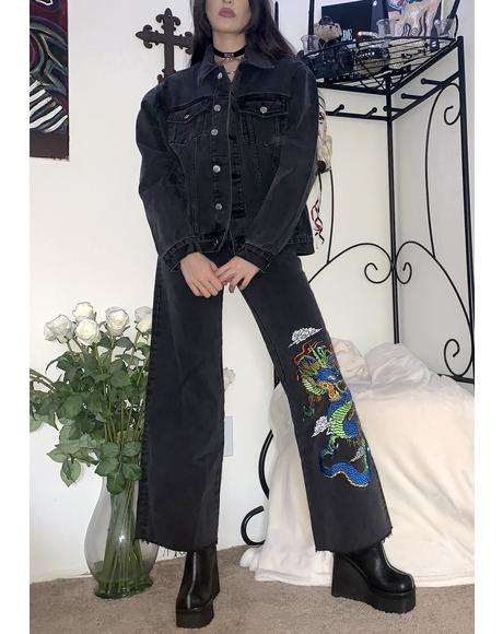 Guardian's Creed Embroidered Jeans
