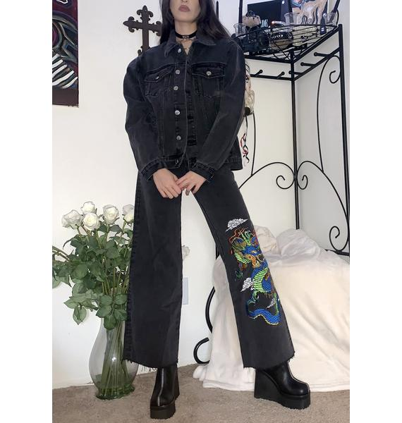 Current Mood Guardian's Creed Embroidered Jeans