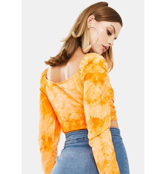 ZEMETA Sunny Tie Dye Long Sleeve Top