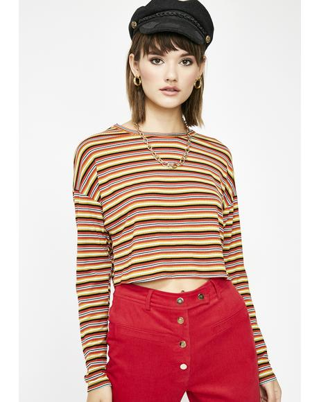 Bad Influence Cropped Top