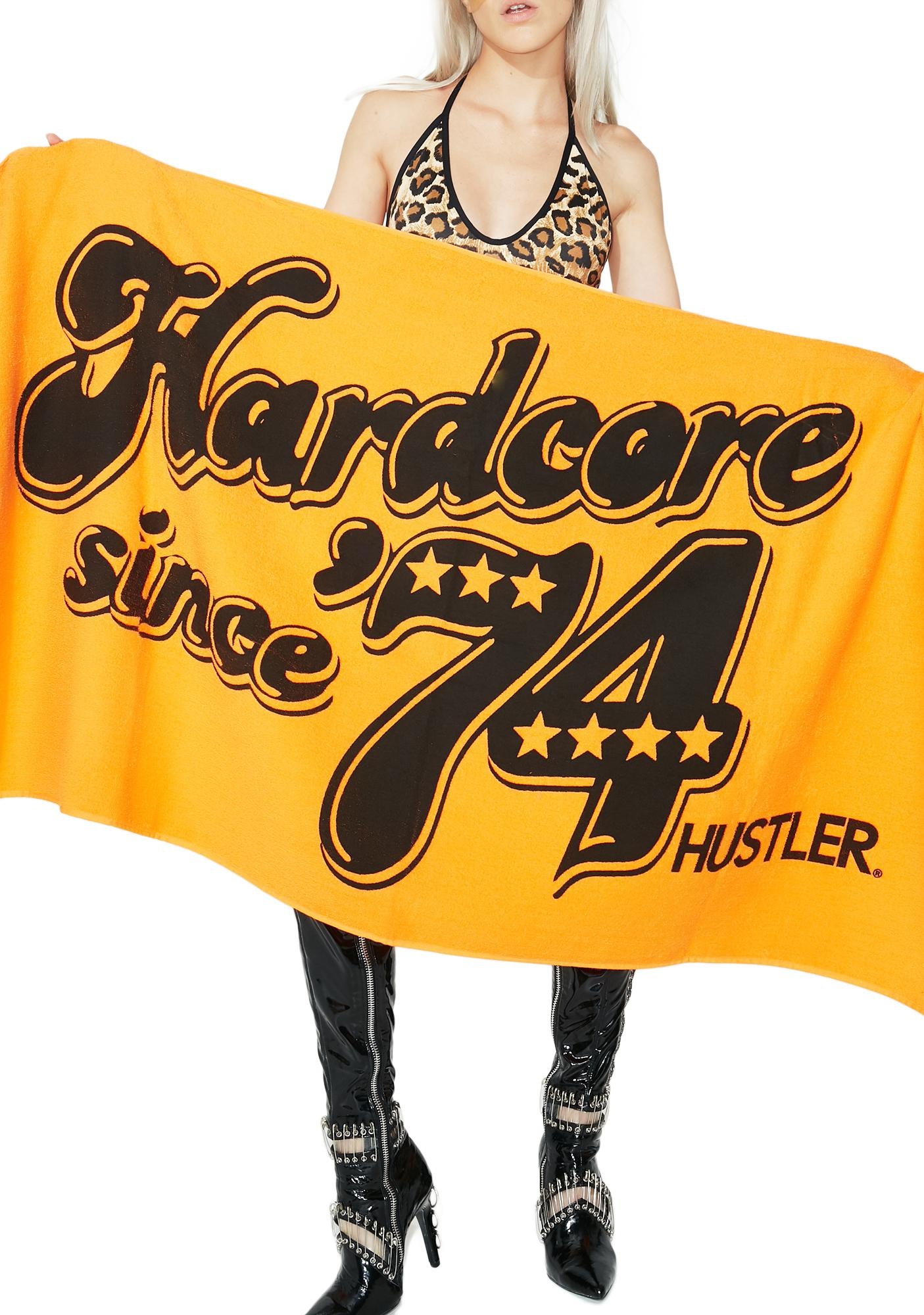 Hustler Hardcore Since '74 Beach Towel