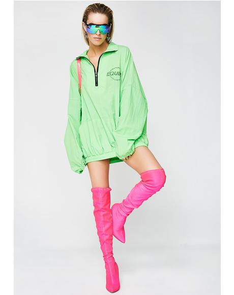 Vintage Equipt Neon Green Pullover