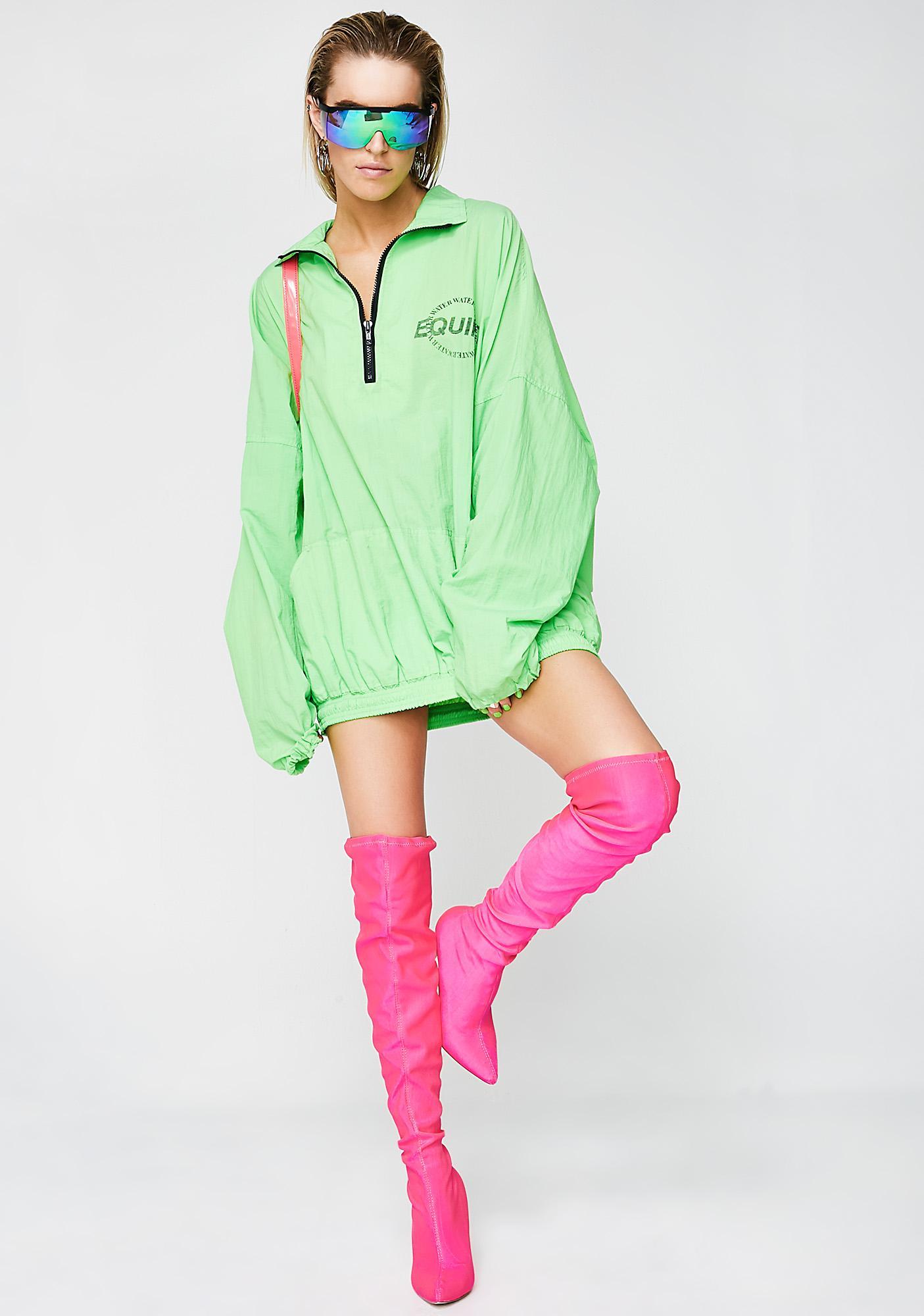 Vintage Equipt Neon Green Pullover