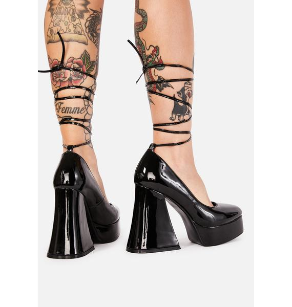Lamoda Noir Lush & Lavish Platform Heels