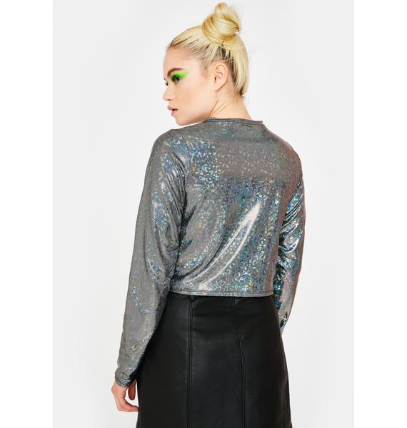 Tallulah's Threads Disco Ball Crop Top