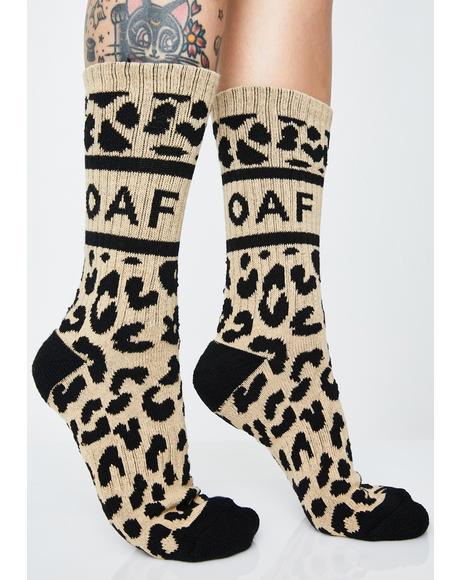 Leopard Oaf Socks