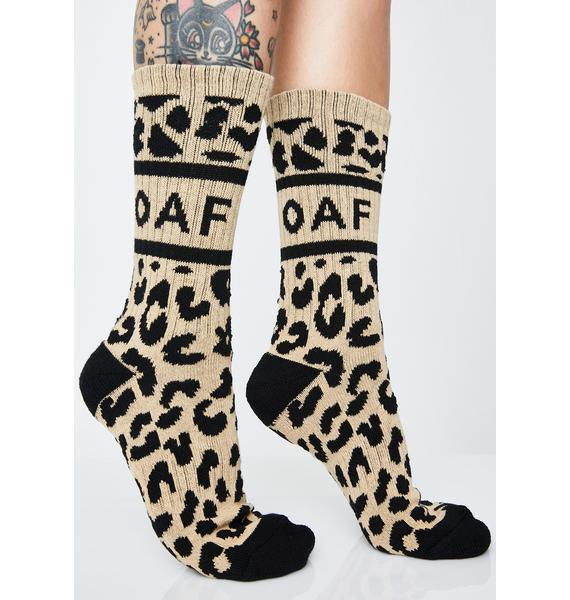 Lazy Oaf Leopard Oaf Socks