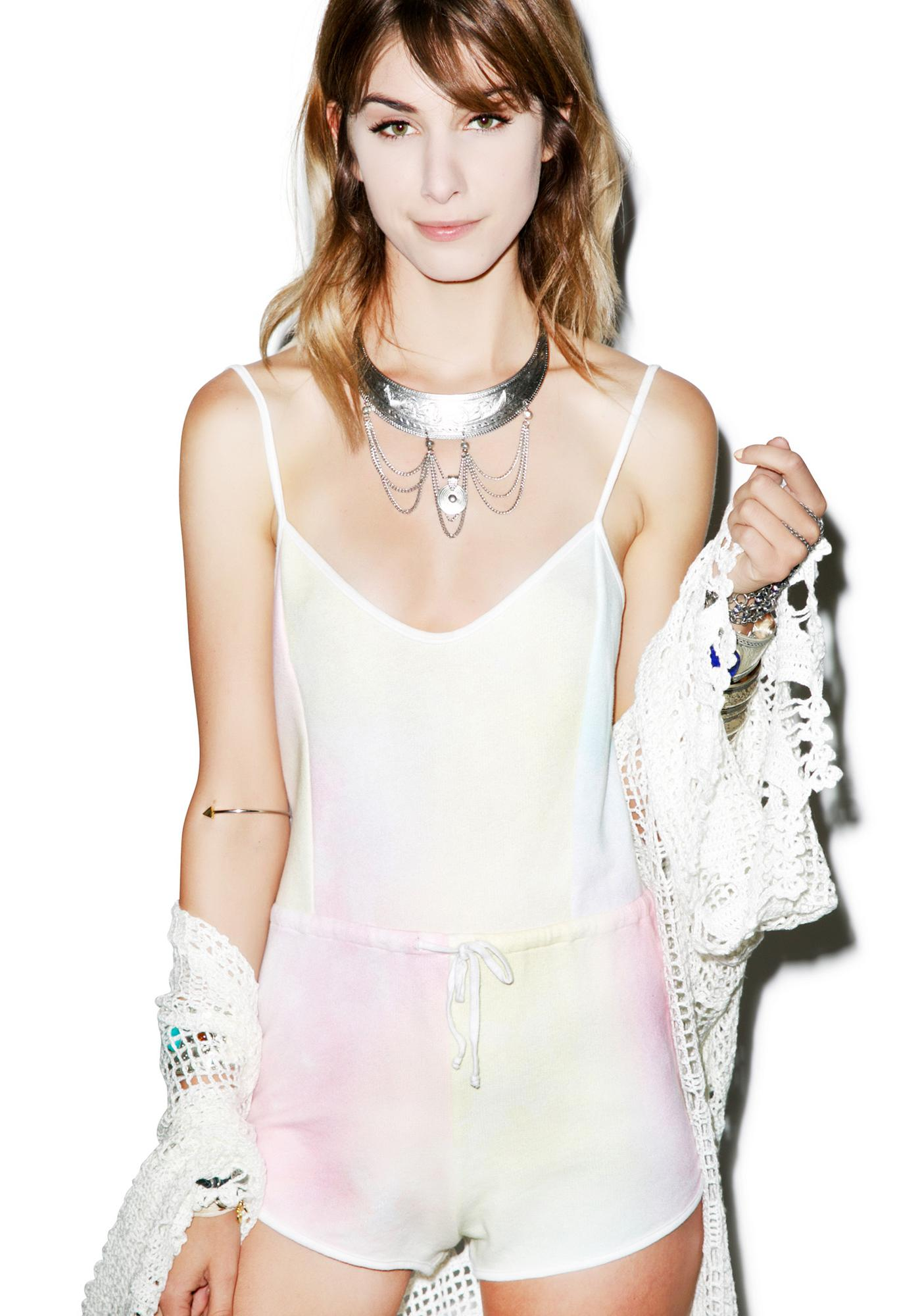 Wildfox Couture Dream Tie Dye Pool Party Romper