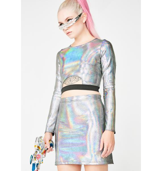 Ivy Berlin Super Shiny Disco Skort