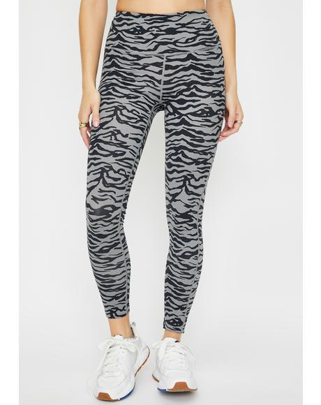 Sneaky Curious Cat High Waisted Leggings