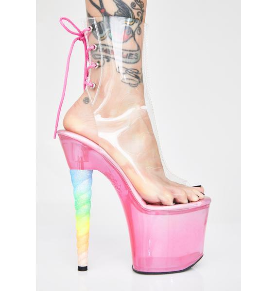 Pleaser Magic Dancer Unicorn Platform Heels