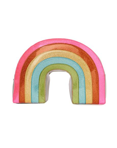 Neon Sparkle Rainbow Backpack